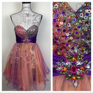 Gorgeous Fun Prom Party Dress Sequins Animal Print